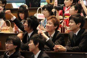 佐藤さん卒業式の写真